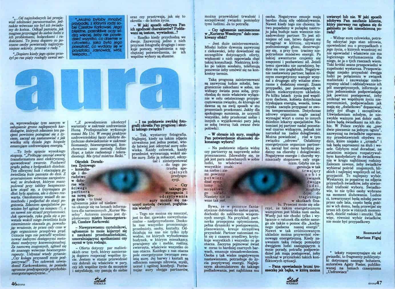 jasnowidzenie - Bioenergoterapeuta Czesław Karkowski